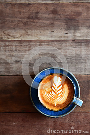 Free Cup Of Latte Art Coffee Stock Photos - 48927053