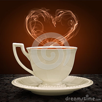 Free Cup Of Tea And Heart With A Pair Of Tea. Concept Graphic. Stock Image - 45172611