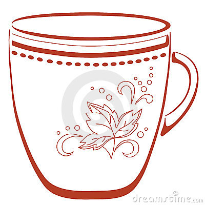Cup with a pattern, pictogram