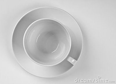Cup on a plate