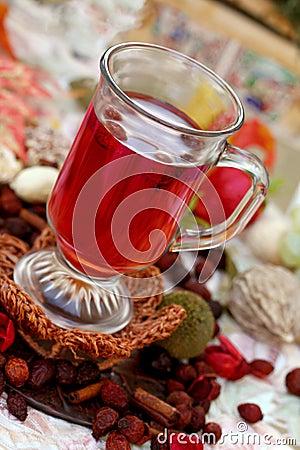 Cup of rosehips tea