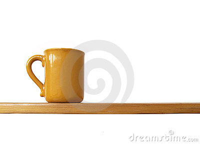 Cup on shelf