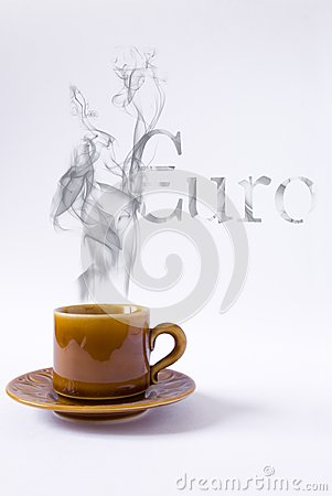 Cup with smoke euro shape