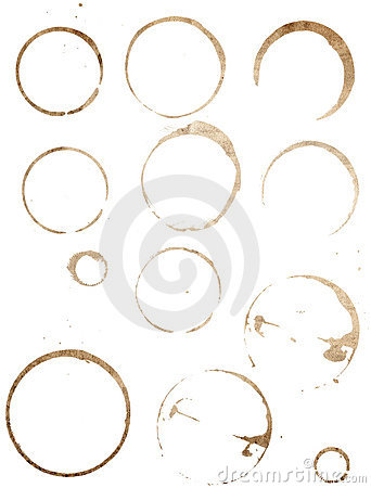 Free Cup Stains Set Royalty Free Stock Photo - 767235