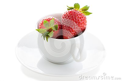 Cup and strawberry