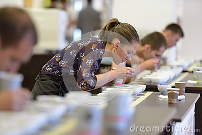 Cup tasters championship Editorial Stock Image