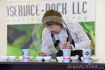 Cup tasters championship Editorial Stock Photo