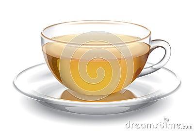 Cup of tea. Illustration.