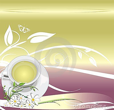 Cup with tea. Abstract background for wrapping