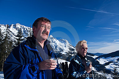 Cup of tea in the alps