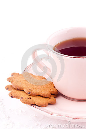 A cup of tea and biscuit