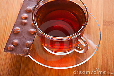 Cup (tea, coffee) and slice