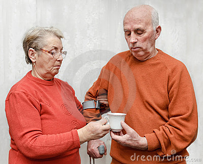 A cup of tea for injured husband