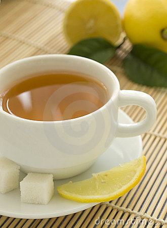 Cup of tea and lemons