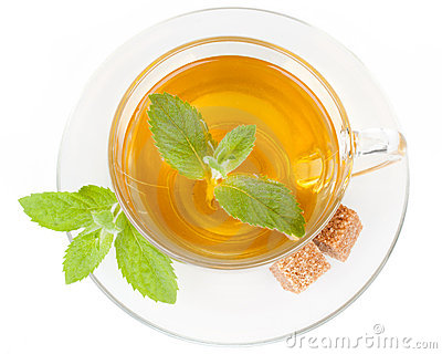 Cup of tea with mint.