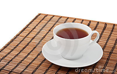 A cup of tea and a saucer