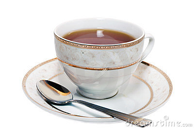 Cup of tea on a saucer
