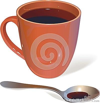 Cup und Löffel