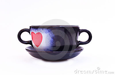 Cup wit heart