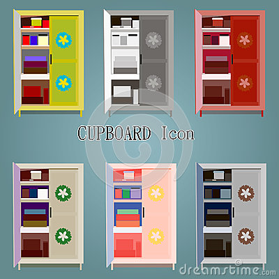 Cupboard icon Vector Illustration