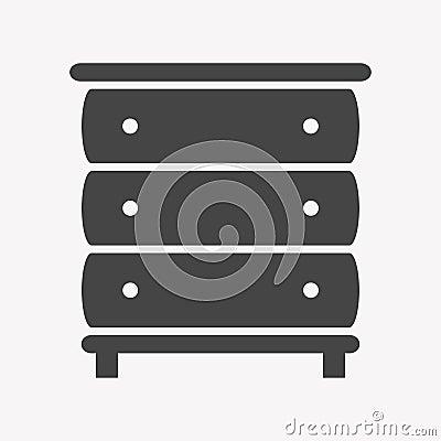 Cupboard icon Trendy Simple Vector Illustration