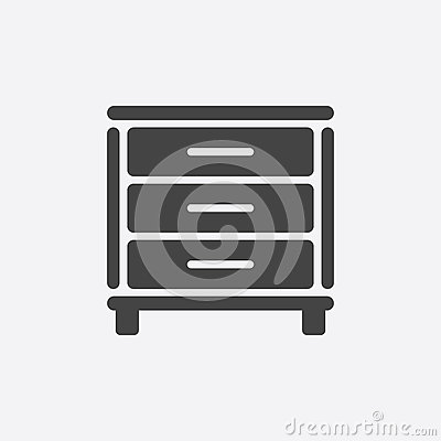 Cupboard icon on white background. Vector Illustration