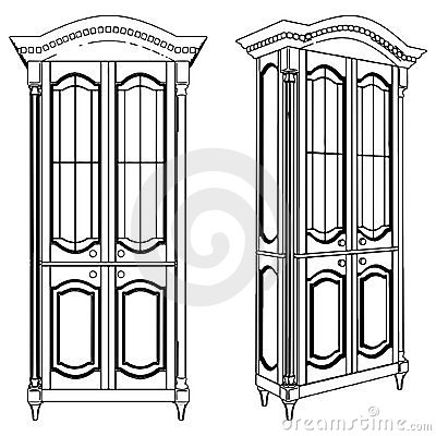 Cupboard Showcase Vector 01