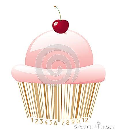 Cupcake with bar-code