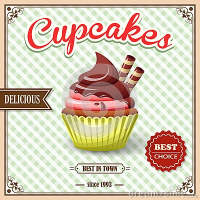 Free Cupcake Cafe Poster Royalty Free Stock Photo - 43621285