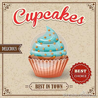 Free Cupcake Cafe Poster Royalty Free Stock Image - 44536416