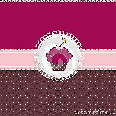 Free Cupcake Card Royalty Free Stock Photo - 16965545