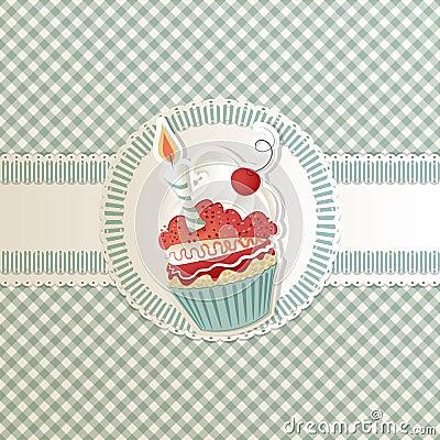 Free Cupcake Card Royalty Free Stock Photo - 22671765