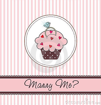 Free Cupcake Card With A Ring Stock Image - 17259961