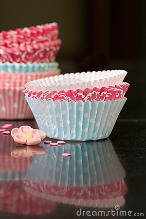 Free Cupcake Cases Royalty Free Stock Photo - 10873465