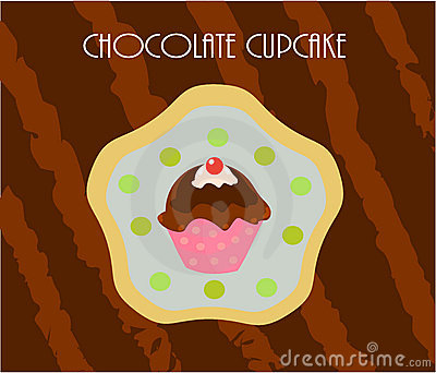 Cupcake chocolate card