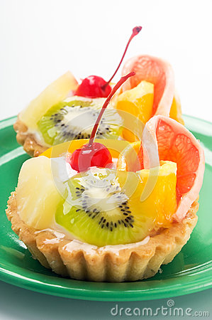 Cupcake with fruits