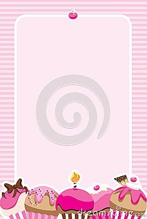 Cupcake Girls Invite/Menu