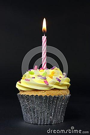 Free Cupcake On Black Royalty Free Stock Photos - 11691288