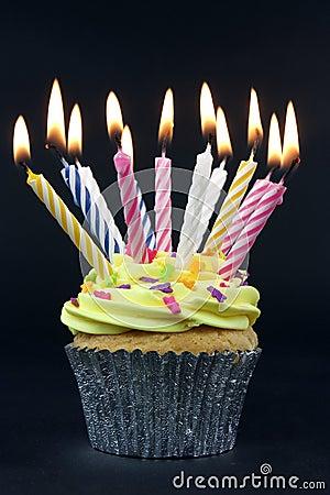 Free Cupcake On Black Stock Photos - 11691383