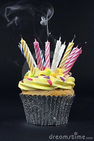 Free Cupcake On Black Stock Images - 11691434
