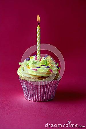 Free Cupcake On Red Royalty Free Stock Image - 11690986