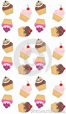 Free Cupcake Pattern Seamless Stock Photo - 14579550