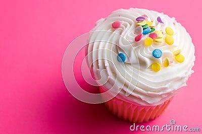 Cupcake on Pink