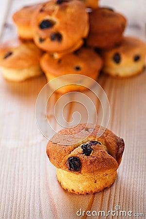 Cupcake with raisins