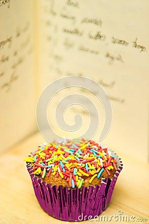 Cupcake with recipe