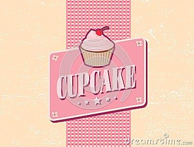 Cupcake retro design