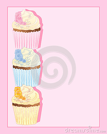 Cupcake with rose decoration