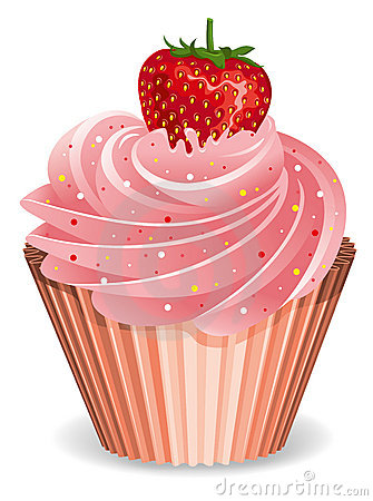 Cupcake With Strawberry Royalty Free Stock Photography Image 18181017