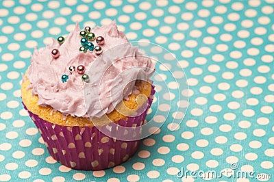 Cupcake wil polka dots