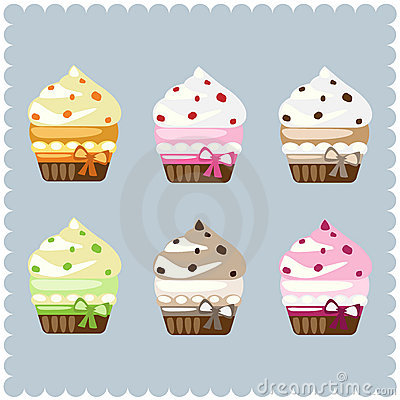 Free Cupcakes Royalty Free Stock Photos - 13412028